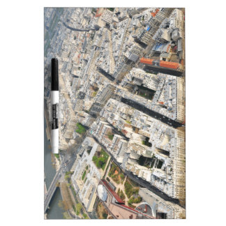 Aerial view of Paris, France Dry Erase White Board