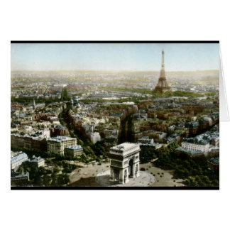Aerial View of Paris, France Vintage Card