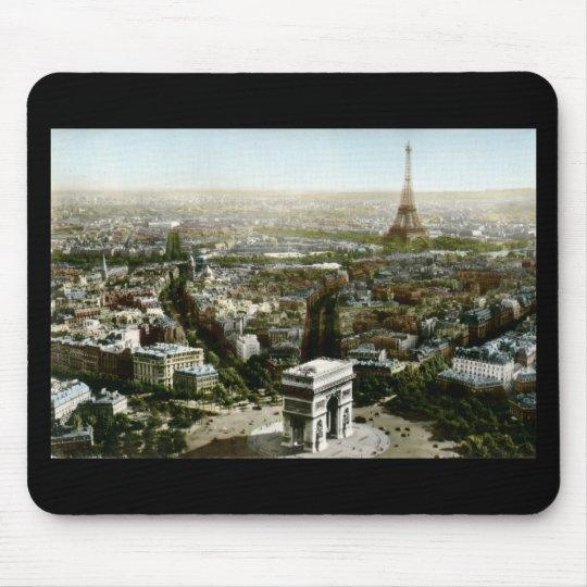 Aerial View of Paris, France Vintage Mouse Mat