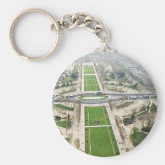 Aerial view of Paris Key Ring