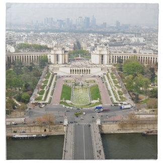 Aerial view of Paris Napkin
