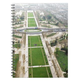 Aerial view of Paris Notebooks