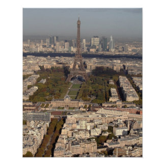 AERIAL VIEW OF PARIS POSTER