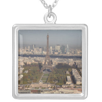 AERIAL VIEW OF PARIS SILVER PLATED NECKLACE