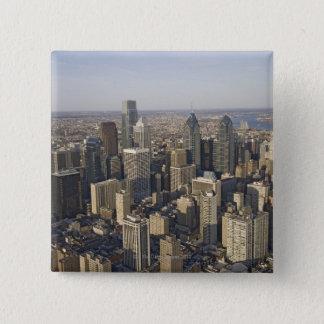 Aerial view of Philadelphia, Pennsylvania 15 Cm Square Badge