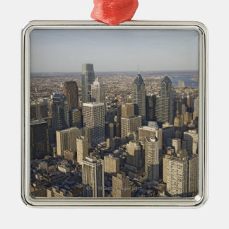 Aerial view of Philadelphia, Pennsylvania Christmas Ornament