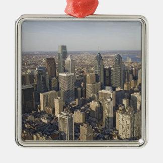 Aerial view of Philadelphia, Pennsylvania Silver-Colored Square Decoration