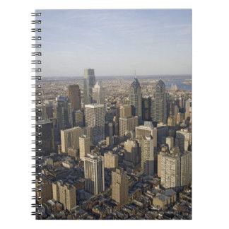 Aerial view of Philadelphia, Pennsylvania Spiral Note Book