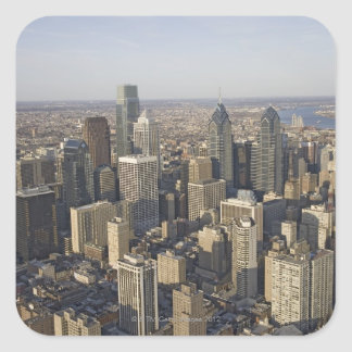 Aerial view of Philadelphia, Pennsylvania Square Sticker