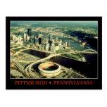 Aerial view of Pittsburgh, Pennsylvania Postcard