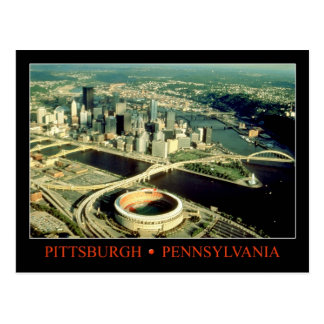 Aerial view of Pittsburgh, Pennsylvania Postcard