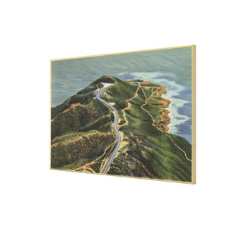 Aerial View of Point Loma Canvas Print
