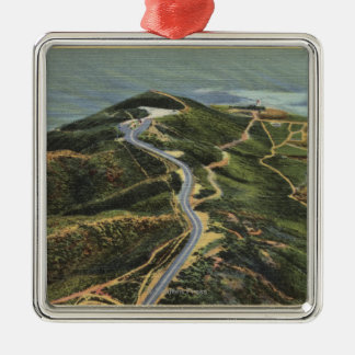 Aerial View of Point Loma Christmas Ornament