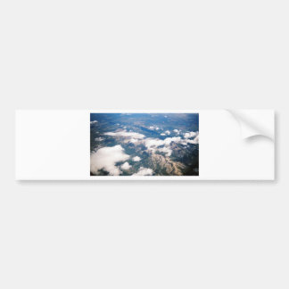 Aerial View of Rocky Mountains Car Bumper Sticker