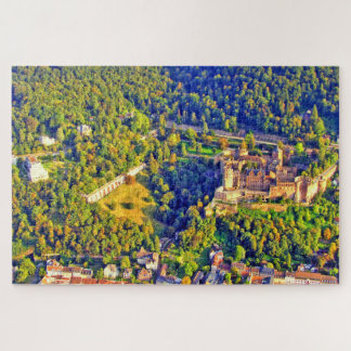 Aerial view of romantic Heidelberg city & castle Jigsaw Puzzle