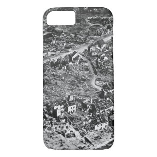 Aerial view of ruins of Vaux,France,1918_War Image iPhone 7 Case
