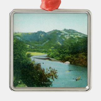 Aerial View of Russian River at Camp Rose Christmas Ornament