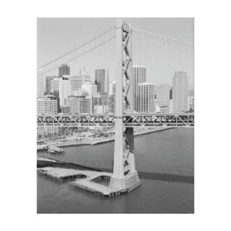Aerial View of San Francisco Oakland Bay Bridge Canvas Print