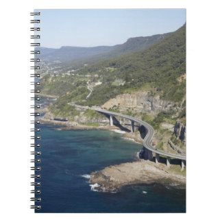 Aerial view of Sea Cliff Bridge near Wollongong, 2 Notebook