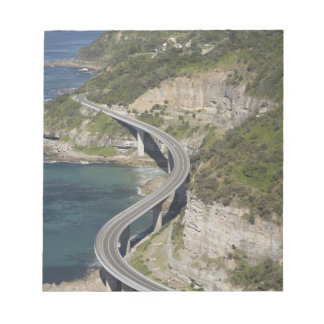 Aerial view of Sea Cliff Bridge near Wollongong, Notepad