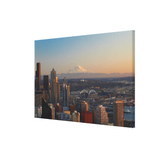 Aerial view of Seattle city skyline 2 Canvas Print