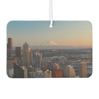 Aerial view of Seattle city skyline 2 Car Air Freshener