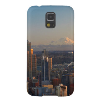Aerial view of Seattle city skyline 2 Cases For Galaxy S5