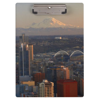 Aerial view of Seattle city skyline 2 Clipboard