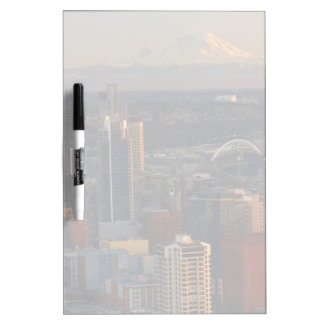 Aerial view of Seattle city skyline 2 Dry Erase White Board