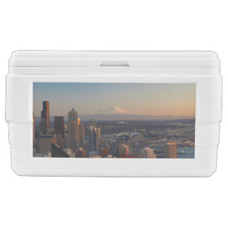 Aerial view of Seattle city skyline 2 Ice Chest