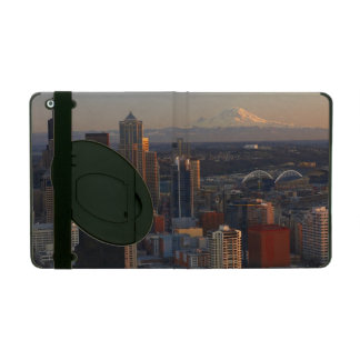 Aerial view of Seattle city skyline 2 iPad Folio Cover