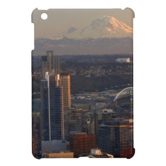 Aerial view of Seattle city skyline 2 iPad Mini Case
