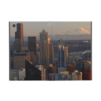 Aerial view of Seattle city skyline 2 iPad Mini Covers