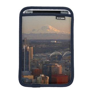 Aerial view of Seattle city skyline 2 iPad Mini Sleeve