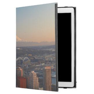 """Aerial view of Seattle city skyline 2 iPad Pro 12.9"""" Case"""