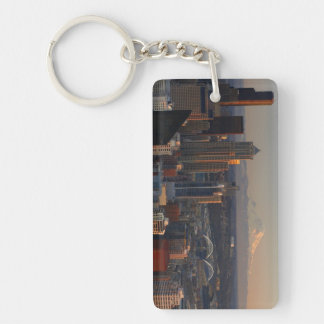 Aerial view of Seattle city skyline 2 Key Ring