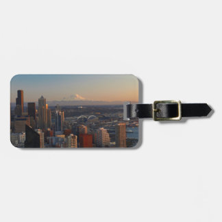 Aerial view of Seattle city skyline 2 Luggage Tag