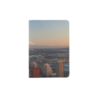 Aerial view of Seattle city skyline 2 Passport Holder