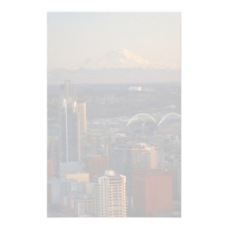Aerial view of Seattle city skyline 2 Stationery