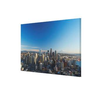 Aerial view of Seattle city skyline Canvas Print