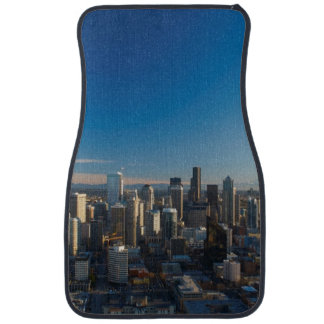 Aerial view of Seattle city skyline Car Mat
