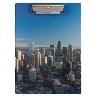Aerial view of Seattle city skyline Clipboard