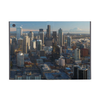 Aerial view of Seattle city skyline Covers For iPad Mini