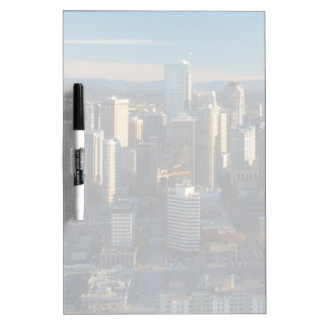 Aerial view of Seattle city skyline Dry Erase Board