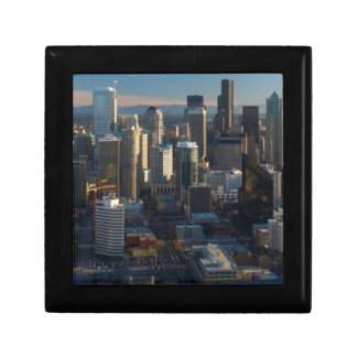 Aerial view of Seattle city skyline Gift Box