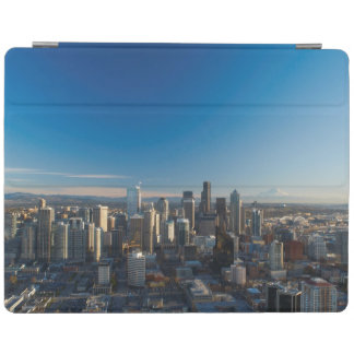 Aerial view of Seattle city skyline iPad Cover
