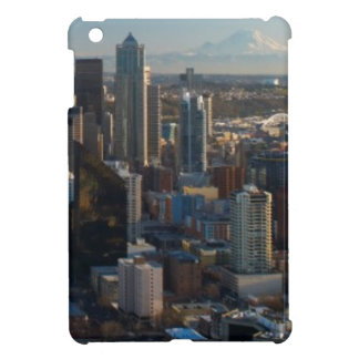 Aerial view of Seattle city skyline iPad Mini Covers
