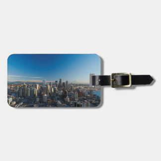 Aerial view of Seattle city skyline Luggage Tag