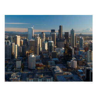 Aerial view of Seattle city skyline Postcard