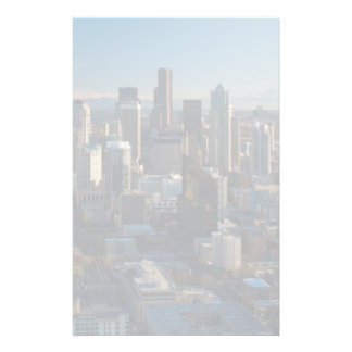Aerial view of Seattle city skyline Stationery Design